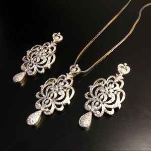 Jewelry - Gorgeous Victorian style pendant set